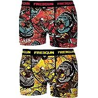 FREEGUN Pack 2 Calzoncillos Boxer Multicolor para niño para Niños