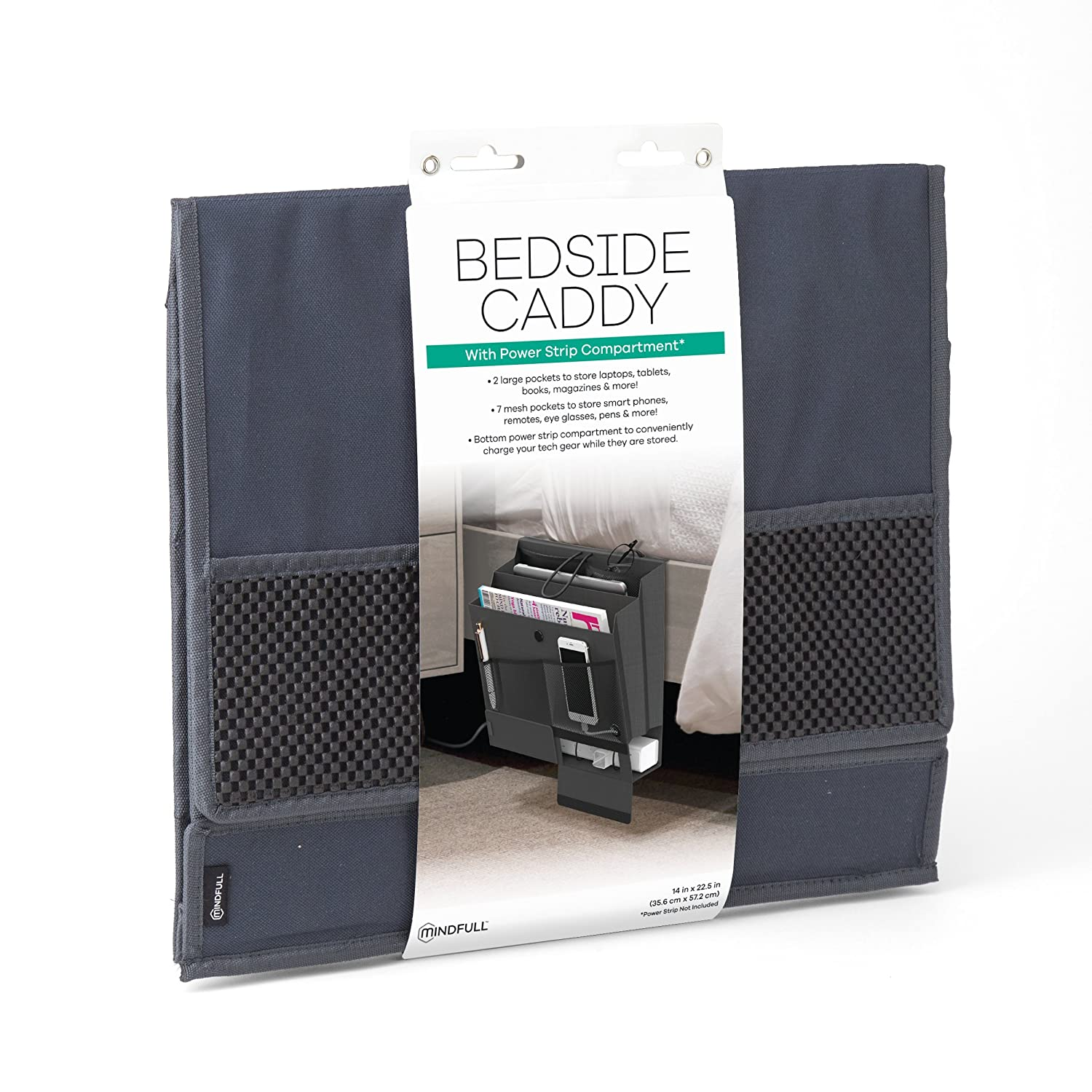 Amazon Mindfull Bedside Caddy 9 Storage Pockets with Power