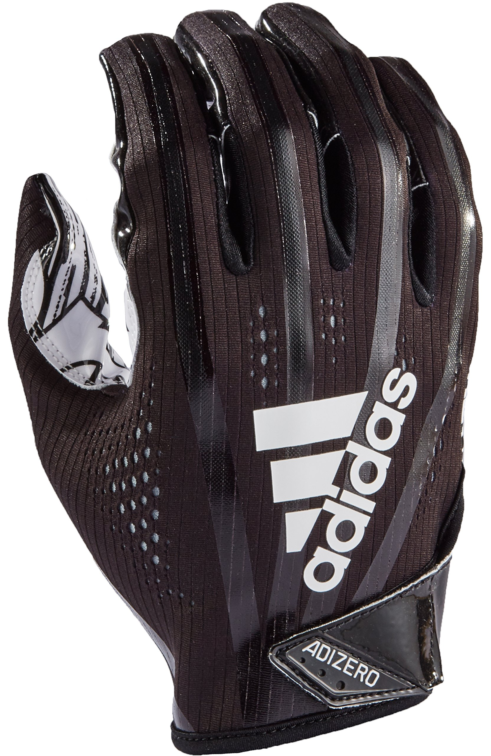 adidas AF1000 Adizero 7.0 Receiver's Gloves, Black, Small by adidas (Image #1)