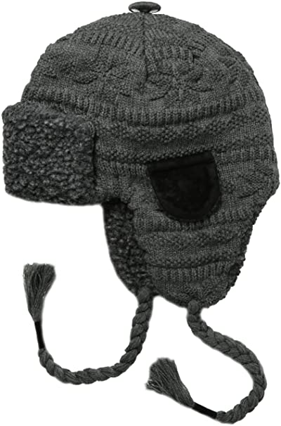 Muk Luksss Trapper Hat Grey Fairlisle One Size At Amazon Mens