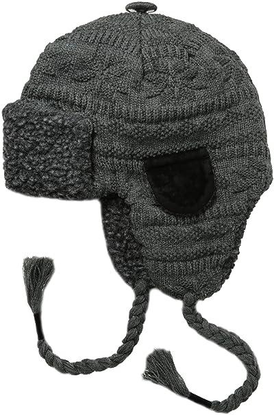 4873b9bd21784 MUK LUKS Mens Trapper Hat-Grey Fairsle