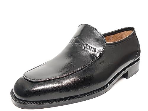 Zapato hombre mocasin vestir en piel de cabra negro marca DONATTELLI 9405 - 15 (40