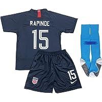 dcd137fdd00 New 2019 Megan Rapinoe #15 USA National Team Away Soccer Jersey Shorts &  Socks for