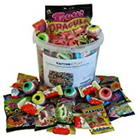Captain Play - Boîte bonbons/chocolats mixtes Halloween - Haribo et Kinder - 1kg