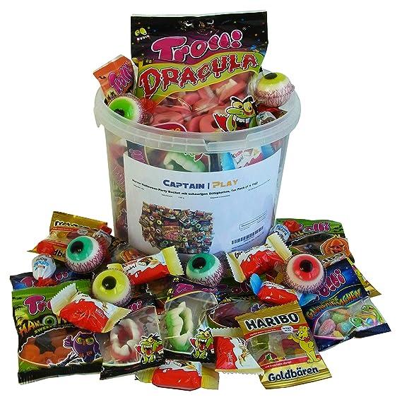 Halloween Party Bucket con Caramelle e Cioccolato 1kg  Amazon.it   Alimentari e cura della casa bbca97396cc