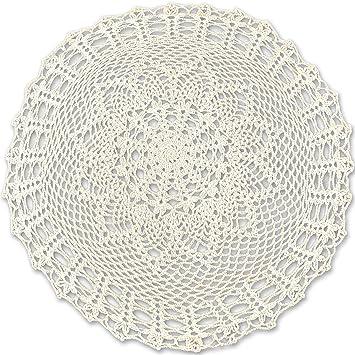 11x Assorted Color Crochet Cotton Lace Table Placemats Lace Doilies Crafts