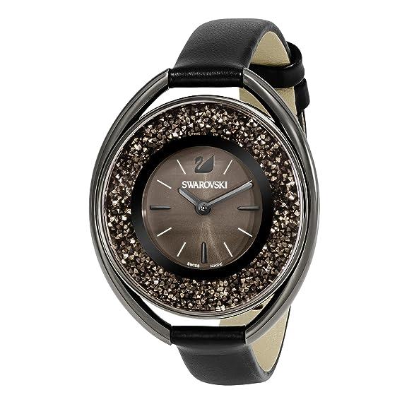Amazon.com: Swarovski Crystalline Oval Black Tone Watch: Swarovski: Watches