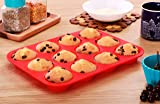 Utopia Home Silicone Muffin Tray - 12 Molds/Cups