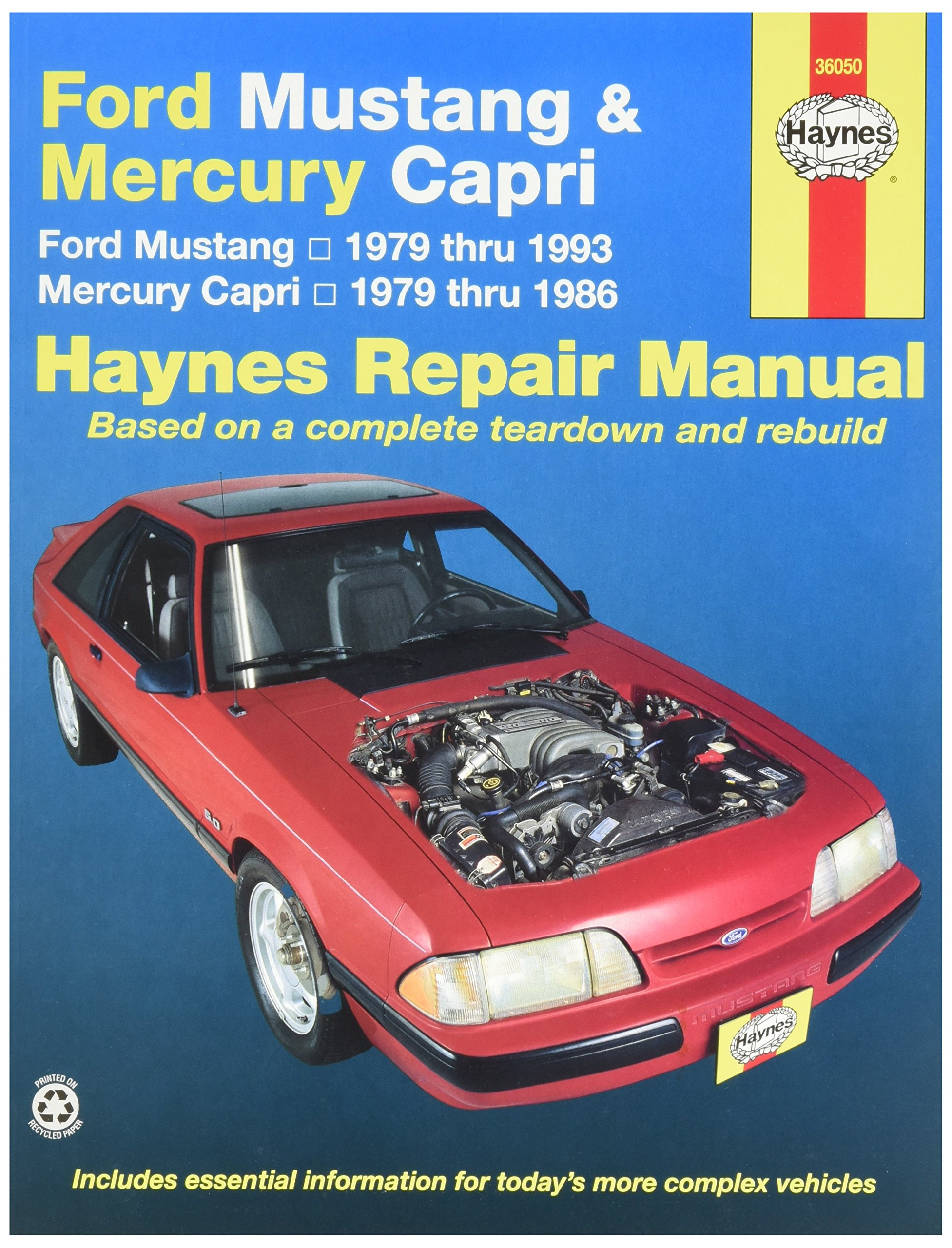Haynes Ford Mustang 79-93, Mercury Capri 79 - 86: 0038345006548:  Amazon.com: Books
