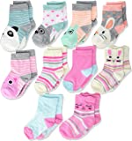 Cherokee Girls' 10 Pack Crew Socks