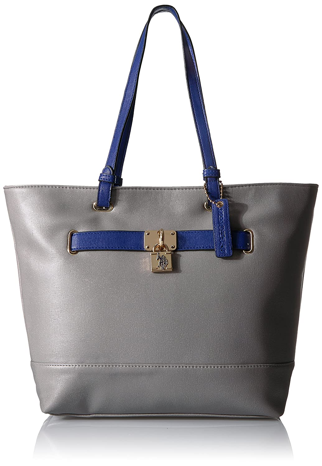 Grey bluee US POLO Association Robinson Tote