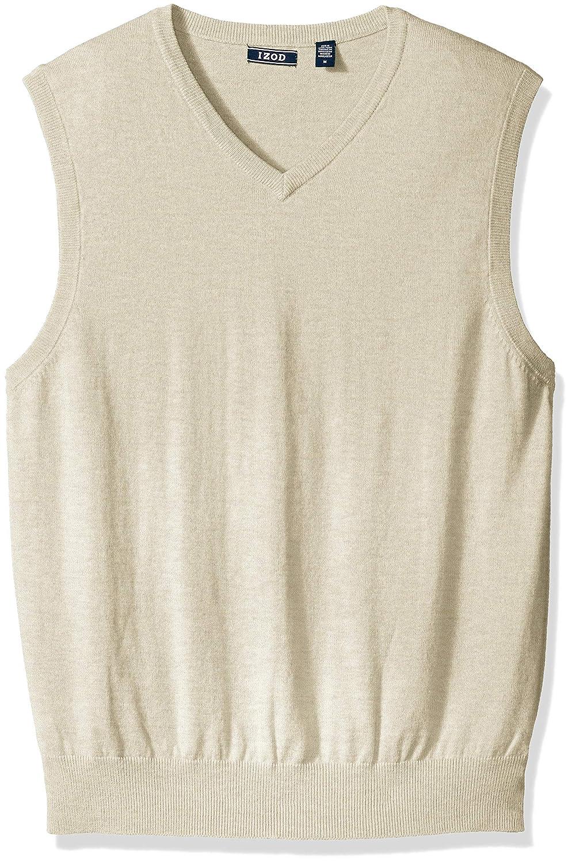 IZOD Mens Soft Fine Gauge V-Neck Solid Sweater Vest IZOD Men/'s Sportswear 45FS7