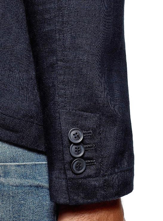 Dritta Abbigliamento Giacca Amazon it in oodji Uomo Ultra Lino xBXwCXqF8