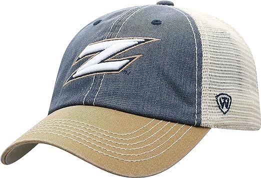 NAVY FLAT BRIM MAINE BLACK BEARS NEW FOOTBALL HAT CAP