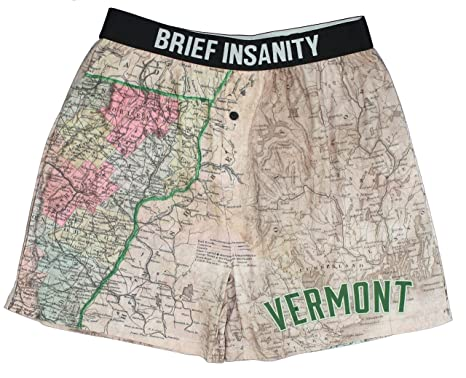 Shelburne Country Store Vermont Map Boxer Shorts - at Amazon ... on map of cabela's, map of bass pro shops, map of vermont hiking trails,