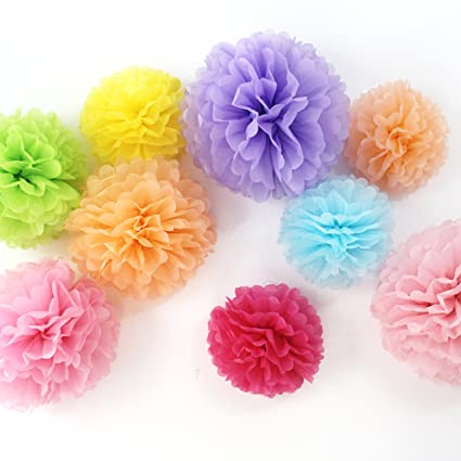 Fonder mols unicorn paper flowers fluffy tissue paper pom poms fonder mols unicorn paper flowers fluffy tissue paper pom poms hanging flower ball for unicorn baby mightylinksfo