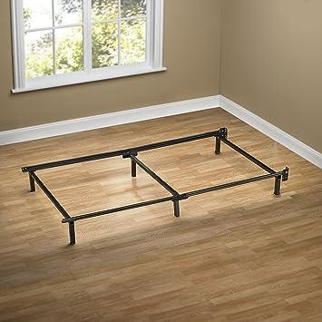 zinus compack 6 leg support bed frame for box spring mattress set