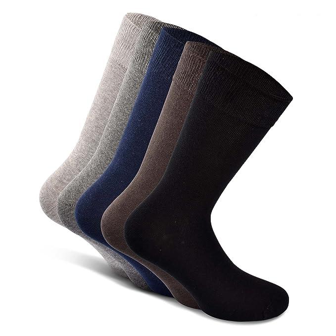 Greylags 5 pares - Calcetines de negocio - calcetines de ocio para mujeres y hombres negro QzCRPss