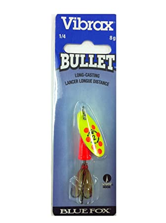 Blue Fox Vibrax Bullet Long Cast Heavy Current Trout Spinner Fishing Lure