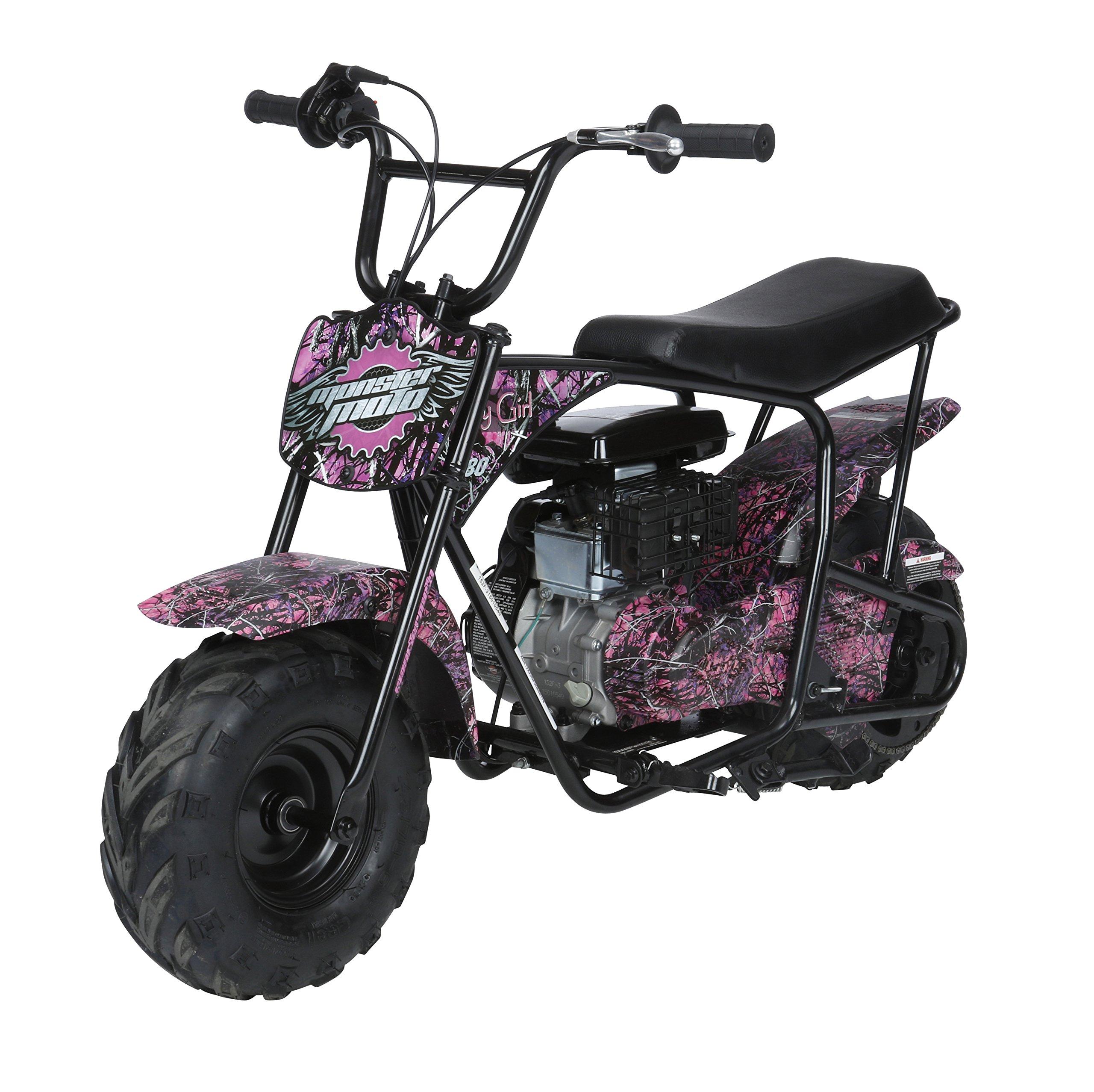 Monster Moto MM-B80-MG Black/Pink 80CC Youth Mini Bike (Muddy Girl Pink),1 Pack