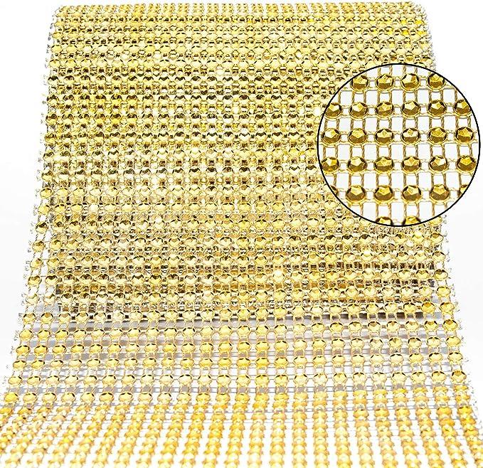 EliteKoopers 5mm Diamante Sparkly Rhinestone Effect Mesh Ribbon For Cake Trim