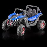SPORTrax UTV Screemer, 2 SEATER, 4WD Kid's Ride On Vehicle, Battery Powered, Remote Control w/FREE MP3 Player - Blue