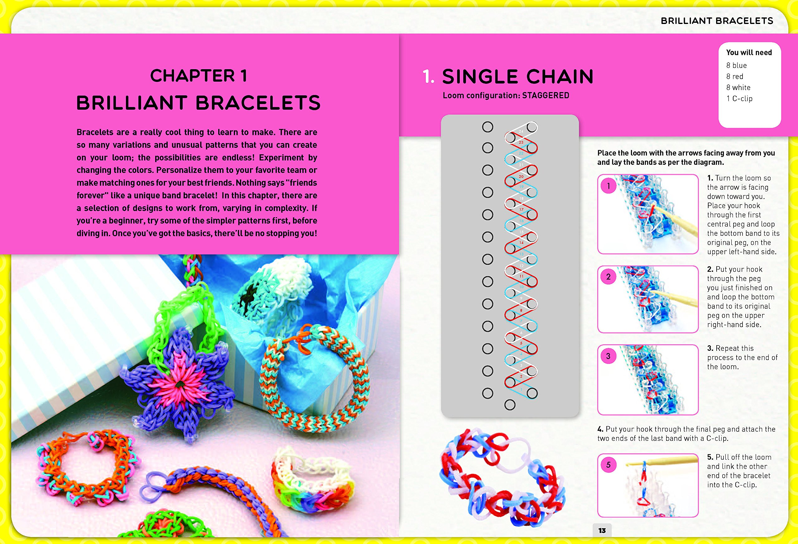 Loom Band It: 60 Rubberband Projects for the Budding Loomineer by Barron's Educational Series (Image #3)