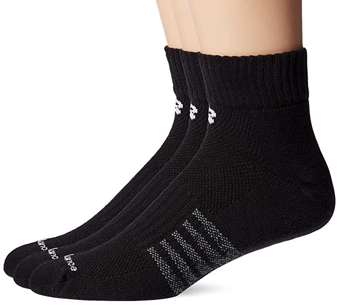73d3530342d9a Amazon.com: New Balance Men's 3 Pack Core Cotton Quarter Socks: Clothing