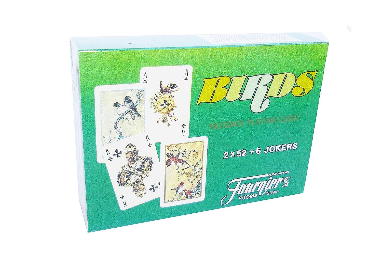 Fournier Birds, Juego de Cartas Mini Poker: Amazon.es ...