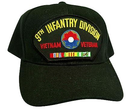 HMC US Army 1st Infantry Division Vietnam Veteran w//Service Ribbons Low Profile Adjustable Ball Cap