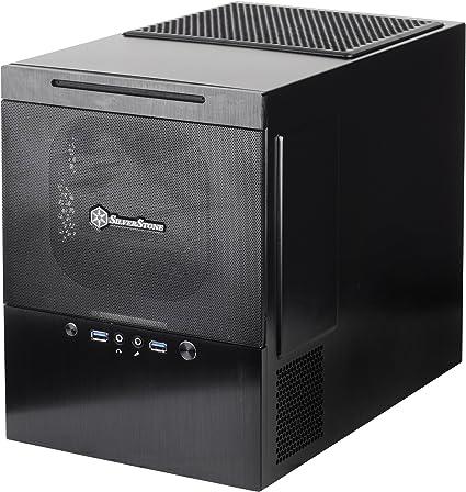 SilverStone SST-SG10B - Carcasa de ordenador cubo Sugo Micro ATX, negro: Amazon.es: Informática