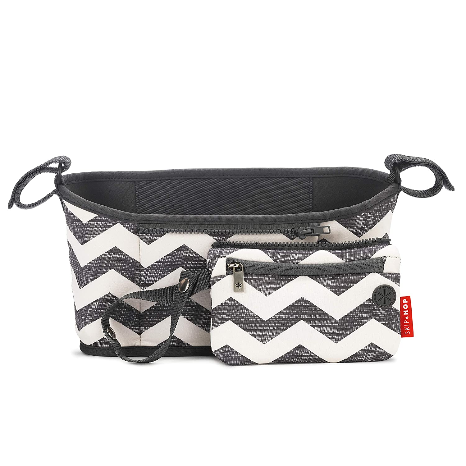 Skip Hop Stroller Organizer with Cup Holders, Grab & Go, Chevron : Baby