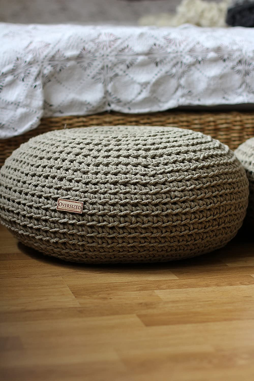 Amazon com: Sustainable Linen Pouf With Organic Buckwheat