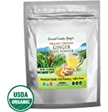 Organic Ginger Root Powder 1 lb, Aromatic, Freshly Harvested Raw Spice for Health, Baking, Beauty, Cooking, and Supplements