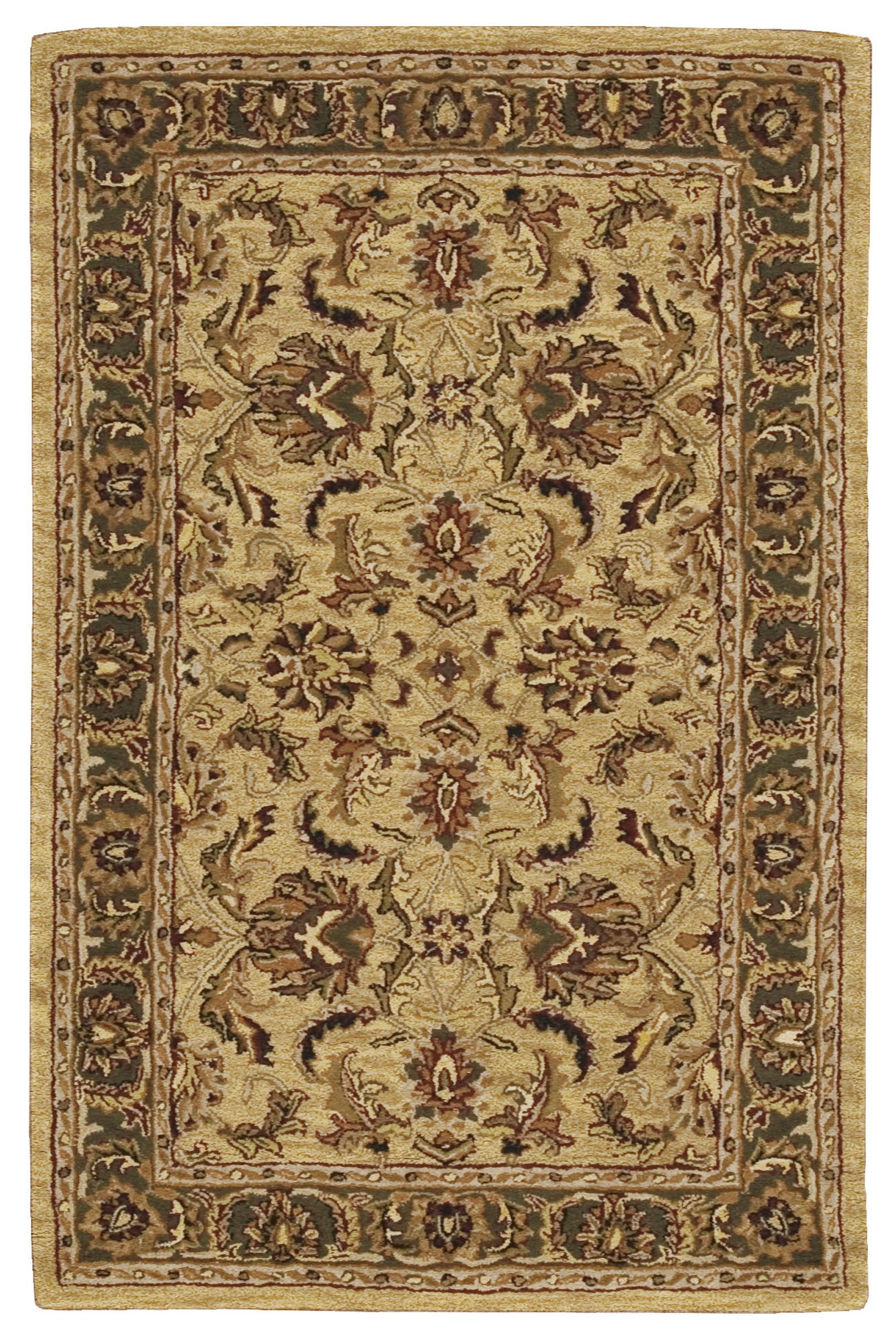 Nourison India House (IH17) Gold Rectangle Area Rug, 2-Feet by 3-Feet (2' x 3')