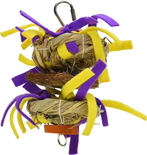A E Cage Company HB46611 Java Wood Tickles Assorted Bird Toy, Small