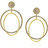 kate spade new york Gold-Tone Drop Hoop Earrings