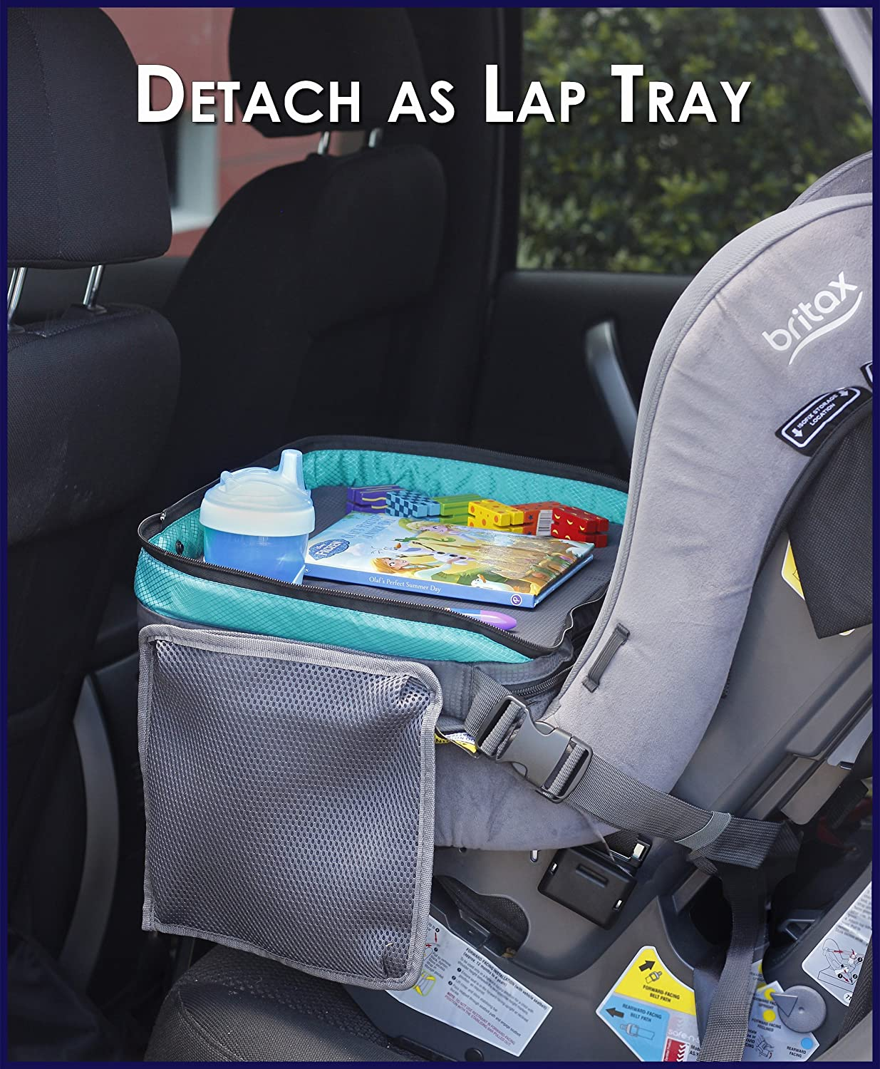 Amazon ORGANIZED EMPIREs Detachable 4 In 1 Kids Travel Tray Storage Organizer Carry Bag Tablet Holder For All One Most Stable Toddler Car
