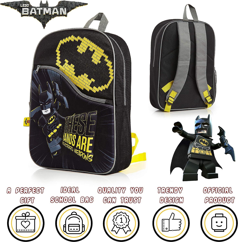 Idea Regalo Per Ragazza Ragazzo Zainetto Bambina Bambino Borsa Da Viaggio Superiore LEGO Batman Zaino Scuola Elementare Media Zainetto Asilo Bambino Con Personaggio Supereroi In Rilievo