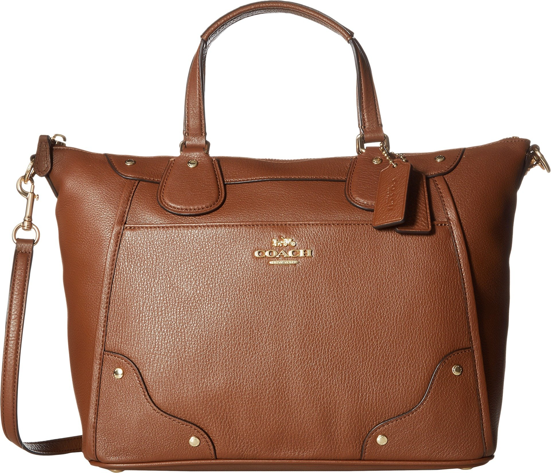 COACH Womens Grain Leather Mickie Satchel