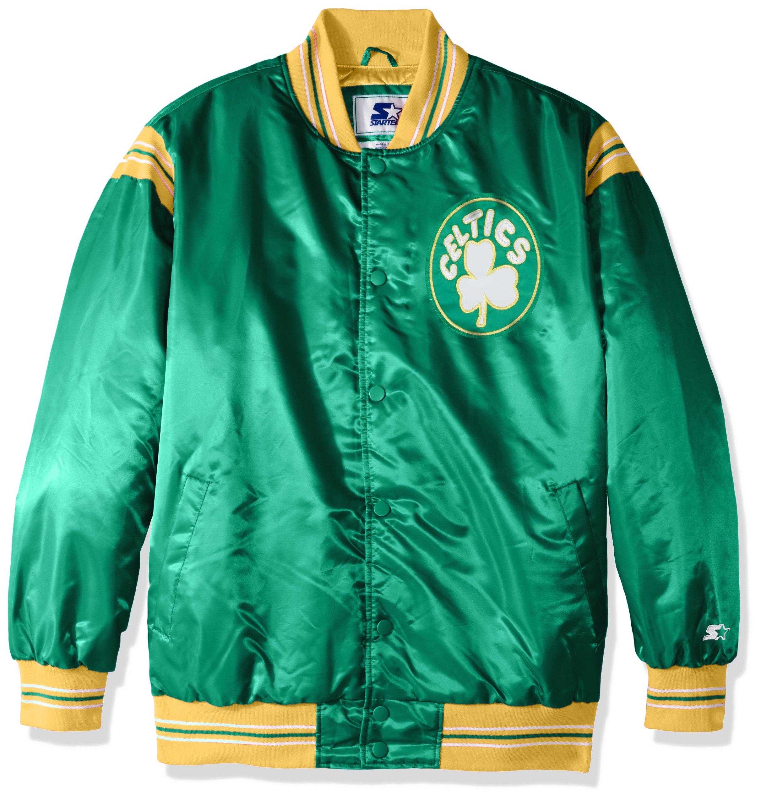 STARTER NBA Men s The Enforcer Retro Satin Jacket - Boston Fanz bbcc8baa5