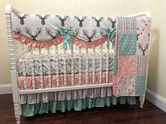 Amazon.com: Nursery Bedding, 1-4 Piece Baby Girl Crib ...