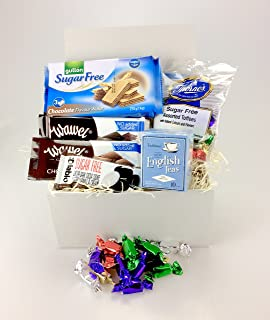 Diabetic treats gift gift card included amazon grocery luxury sugar free snack box food hamper suitable for diabetics biscuits cookies chocolate tea sweets negle Choice Image