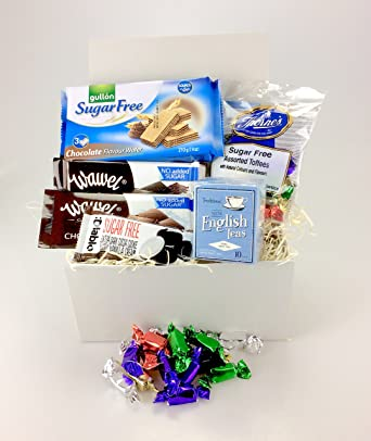 Luxury sugar free snack box food hamper suitable for diabetics luxury sugar free snack box food hamper suitable for diabetics biscuits cookies chocolate tea sweets negle Image collections