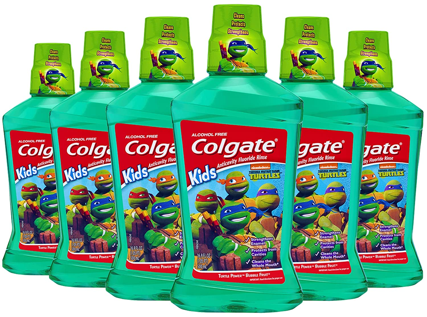 Amazon.com: Colgate Kids enjuague bucal, Tortugas Ninja: Beauty