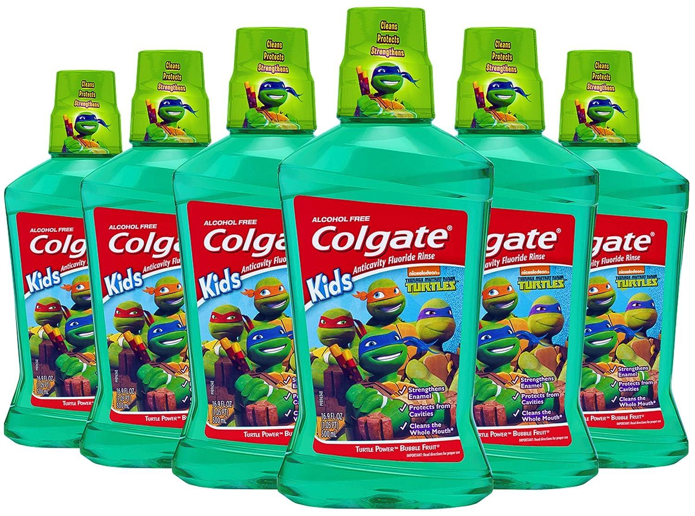 Amazon.com: Colgate Kids enjuague bucal, Tortugas Ninja: Beauty