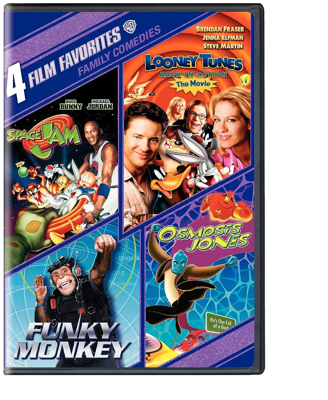 4 Film Favorites: Family Comedies (Space Jam / Looney Tunes: Back In Action / Funky Monkey / Osmosis Jones) Various Warner Home Video 85391174325 Movie