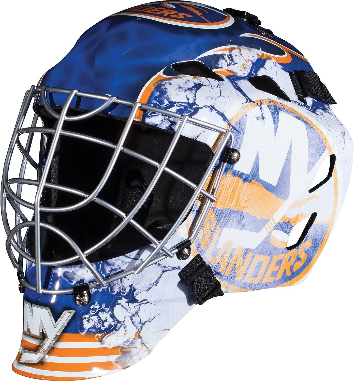 Franklin Sports NHL New York Islanders Hockey Goalie Face Mask - Goalie Mask for Kids Street Hockey - Youth NHL Team Street Hockey Masks : Sports & Outdoors