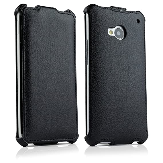 low priced efe5c fa6ad BoxWave Leather Flip HTC One (M7 2013) Case - Slim Vertical Flip Cover  Leatherette Case, made with Synthetic Leather - HTC One (M7 2013) Cases and  ...