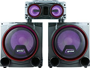"Gemini GSYS-4000 Home Party and Theater Audio System with 4000W Dual 12"" Woofers Speakers, Bluetooth, Media Player, FM Radio, USB/SD Playback"